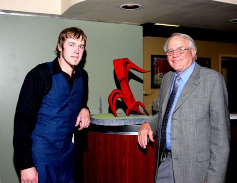 Luke Achterberg and Dr. Privett at Lexington Diagnostic Center